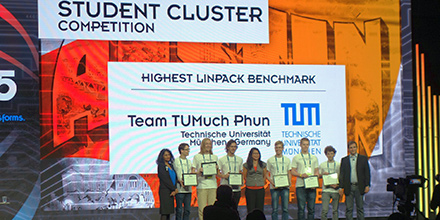 Don't miss your opportunity to get involved in the Student Cluster Competition this year and win an award like Team TUMuch Phun did at SC15.